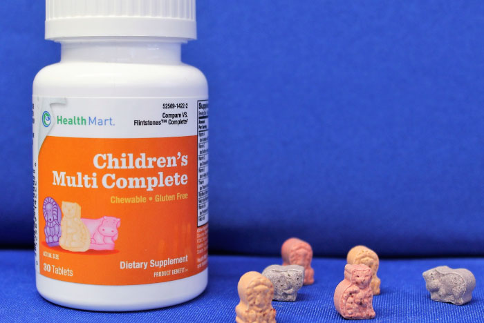 photo of a bottle of free childrens vitamins